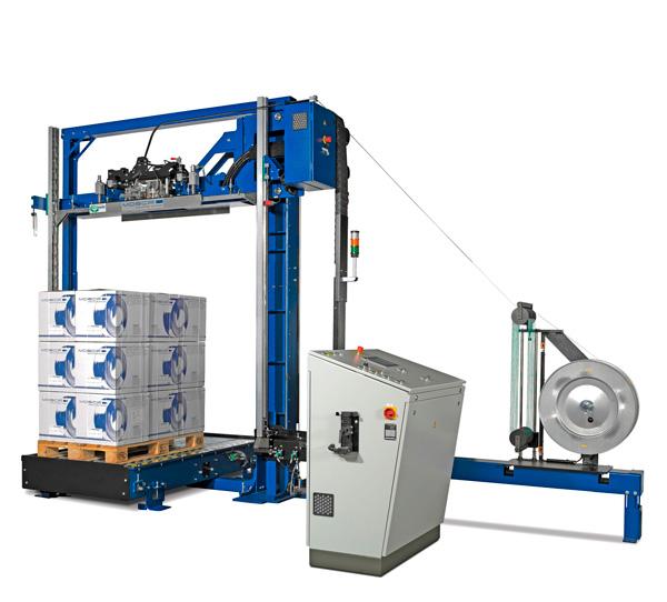 maquina flejadora automatica vertical pallets mosca kzv 111