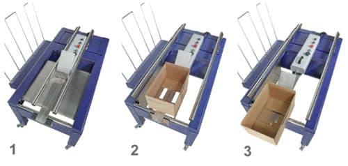 máquina de formar cajas manual