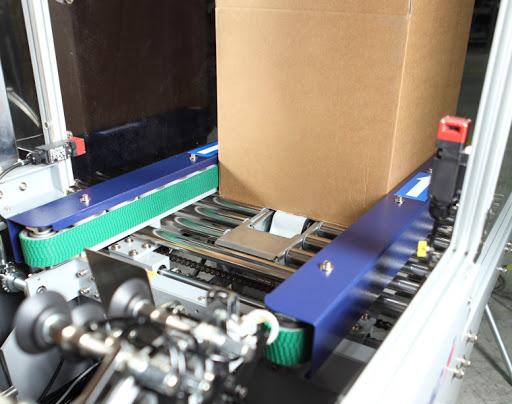 máquina de formar cajas automática