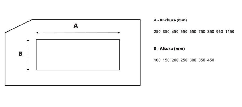 dimensiones arco detector metales a medida