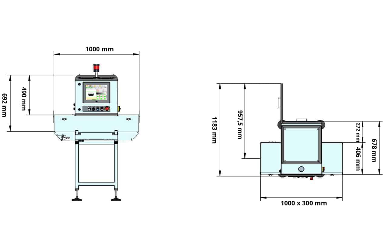 Equipo-inspección-por-Rayos-X-IRIX-BASIC-dimensiones